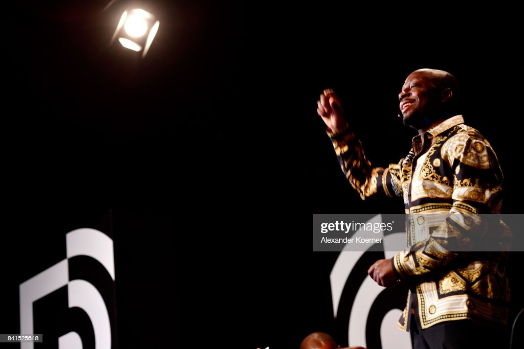 Wyclef Jean attends the 'The Fall and Rise of a Refugee' panel talk during the Bread & Butter by Zalando at Festsaal Kreuzberg on September 1, 2017 in Berlin, Germany.