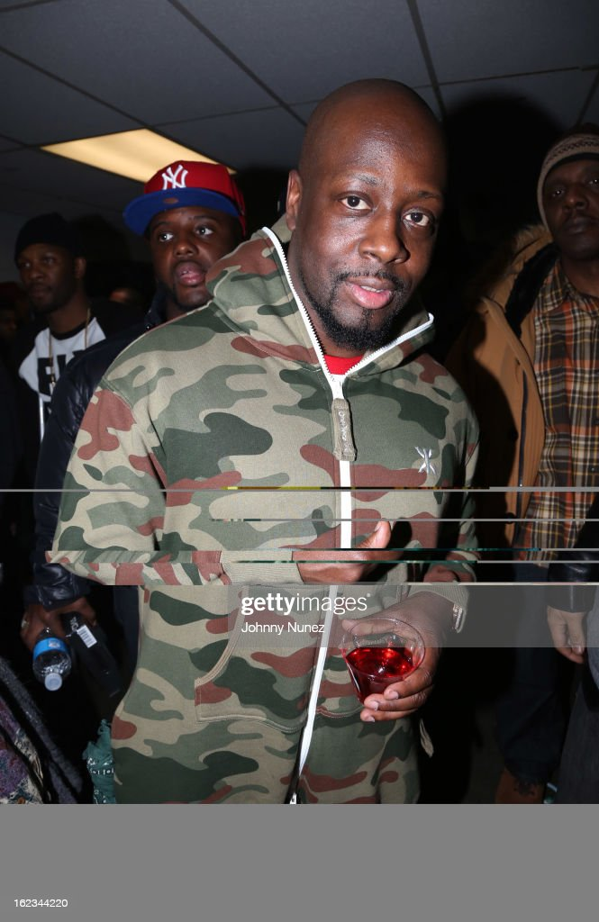 <a gi-track='captionPersonalityLinkClicked' href=/galleries/search?phrase=Wyclef+Jean&family=editorial&specificpeople=171115 ng-click='$event.stopPropagation()'>Wyclef Jean</a> attends Waka Flocka's 'Thank You To Hip Hop' concert at BB King on February 21, 2013, in New York City.