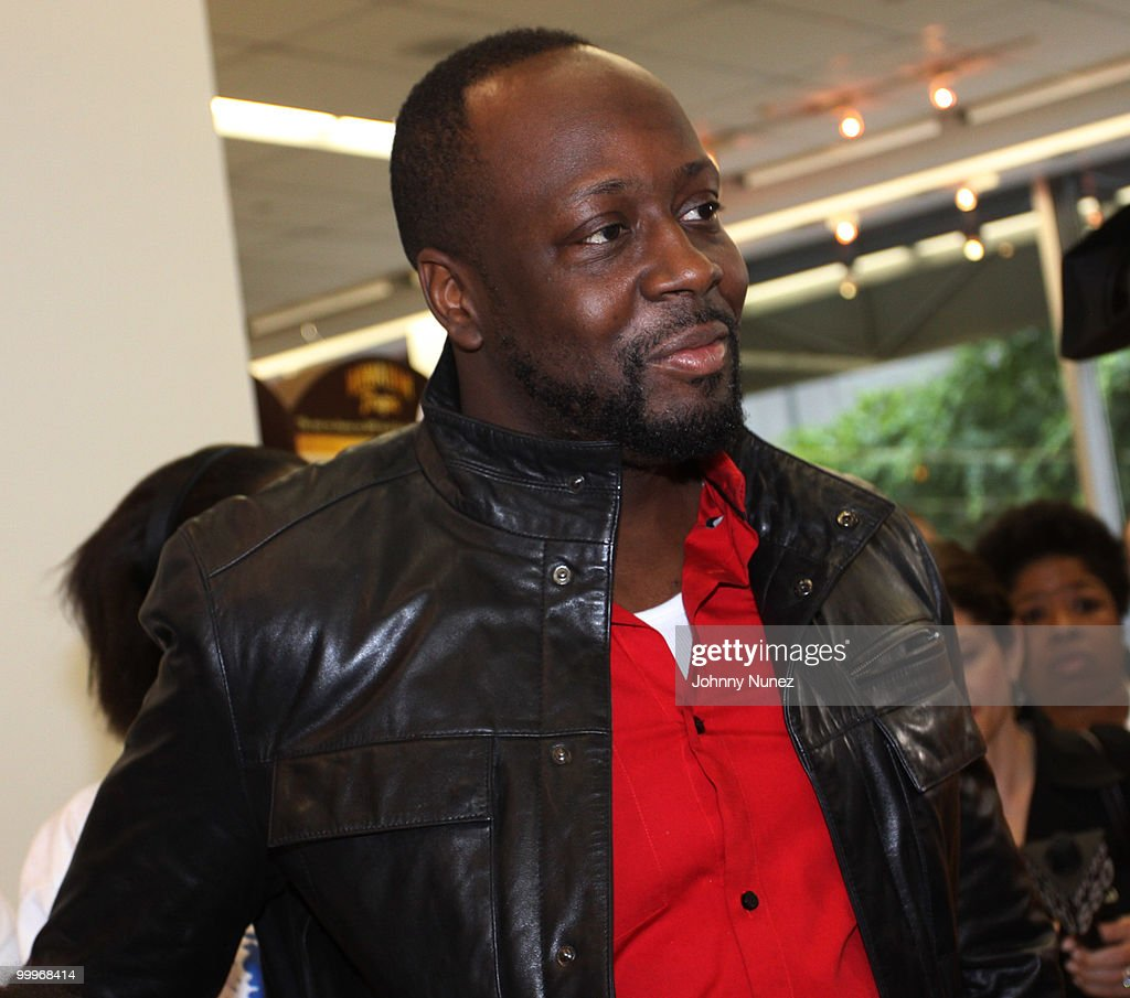 Leather jacket kmart - Wyclef Jean Hosts A Charity Shopping Spree At Kmart On May 18 2010 In New