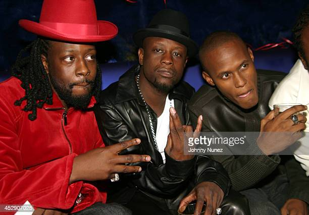 Wyclef Jean Jerry Wonder and Canibus during Wyclef Jean Birthday Party at Quo in New York City New York United States