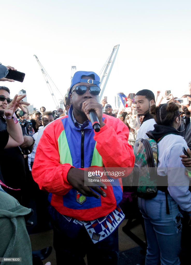 Wyclef Jean performs at the 1st annual Ship Show Music Festival on May 27, 2017 in Alameda, California.