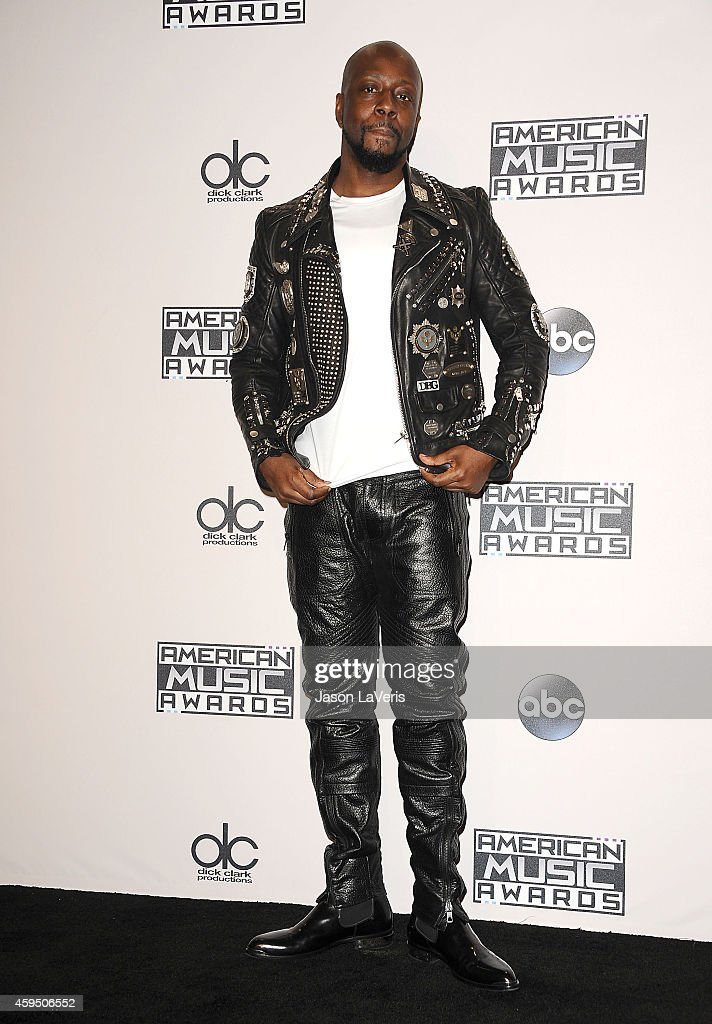 Wyclef Jean poses in the press room at the 2014 American Music Awards at Nokia Theatre L.A. Live on November 23, 2014 in Los Angeles, California.