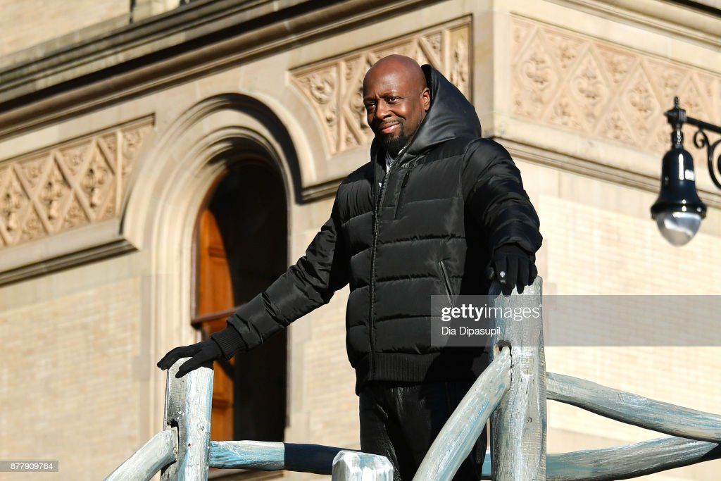 Wyclef Jean rides in the 91st Annual Macy's Thanksgiving Day Parade on November 23, 2017 in New York City.