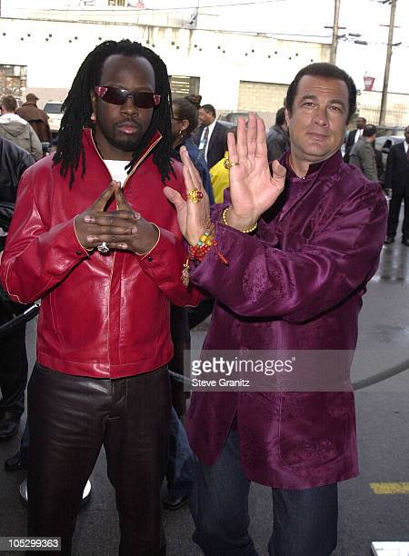 Wyclef Jean Steven Seagal during 15th Annual Soul Train Awards at Shrine Auditorium in Los Angeles California United States