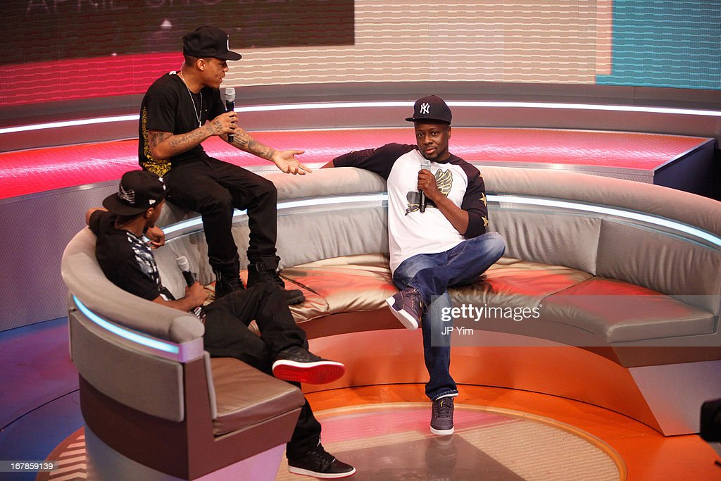 <a gi-track='captionPersonalityLinkClicked' href=/galleries/search?phrase=Wyclef+Jean&family=editorial&specificpeople=171115 ng-click='$event.stopPropagation()'>Wyclef Jean</a> visits BET's 106 & Park at BET Studios on May 1, 2013 in New York City.