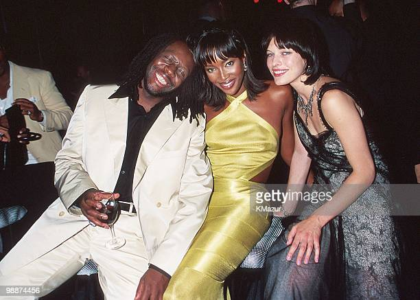 Wyclef Naomi Campbell and Milla Jovovich