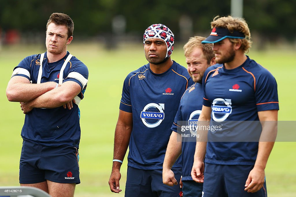 Wycliff Palu looks on during a Waratahs Super Rugby training sesssion at Moore Park on January 9, 2014 in Sydney, Australia.