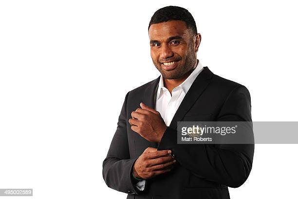Wycliff Palu poses during an Australian Wallabies portrait session at Sanctuary Cove on June 1 2014 on the Gold Coast Australia