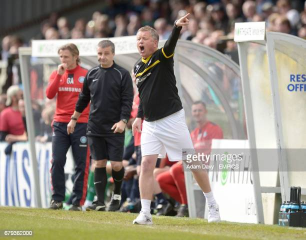 Wycombe Wanderers' manager Chris Wilder shouts at his players on the touchline