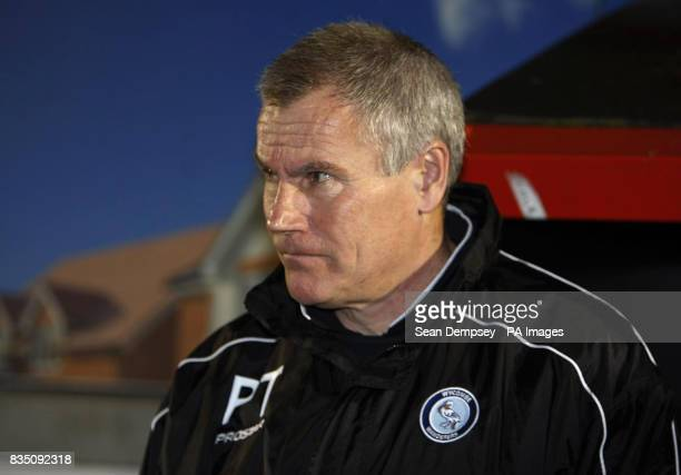 Wycombe Wanderers manager Peter Taylor during the CocaCola League Two match at the LB Barking Dagenham Stadium Dagenham London