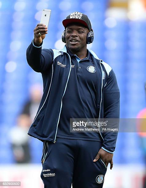 Wycombe's Adebayo Akinfenwa before the Emirates FA Cup fourth round match at White Hart Lane London