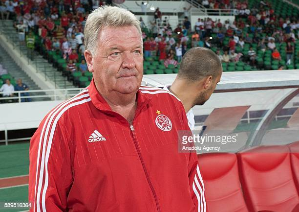 Wydad Casablanca head coach John Toshack is seen during the Group A match of CAF Champions League between Wydad Casablanca and ASEC at the Prince...