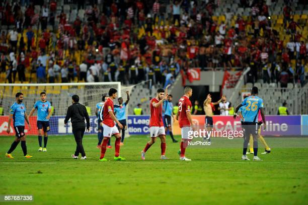 Wydad's and Ahly's players during the CAF Champions League final football match between AlAhly vs Wydad Casablanca at the Borg El Arab Stadium in...
