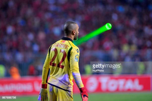 Wydad's Goalkeeper Zouhair Laaroubi during the CAF Champions League final football match between AlAhly vs Wydad Casablanca at the Borg El Arab...