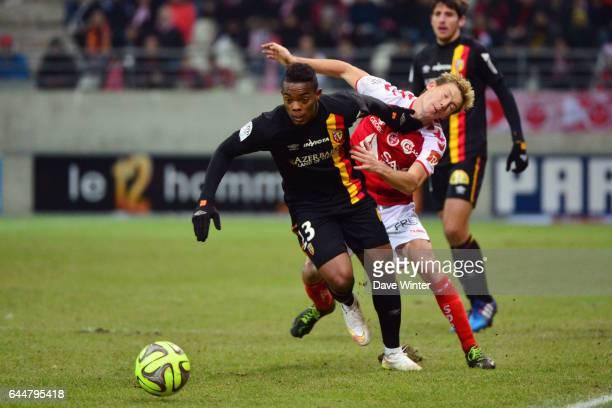 Wylan CYPRIEN / Franck SIGNORINO Reims / Lens 22eme journee de Ligue1 Photo Dave Winter / Icon Sport