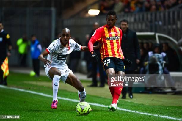 Wylan CYPRIEN / Gelson FERNANDES Lens / Rennes 27eme journee de Ligue 1 Photo Dave Winter / Icon Sport