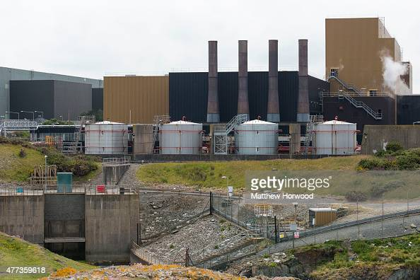 Wylfa Nuclear Power Station at Cemaes Bay Anglesey North Wales The power station will be decommissioned in December 2015 after beginning operation in...