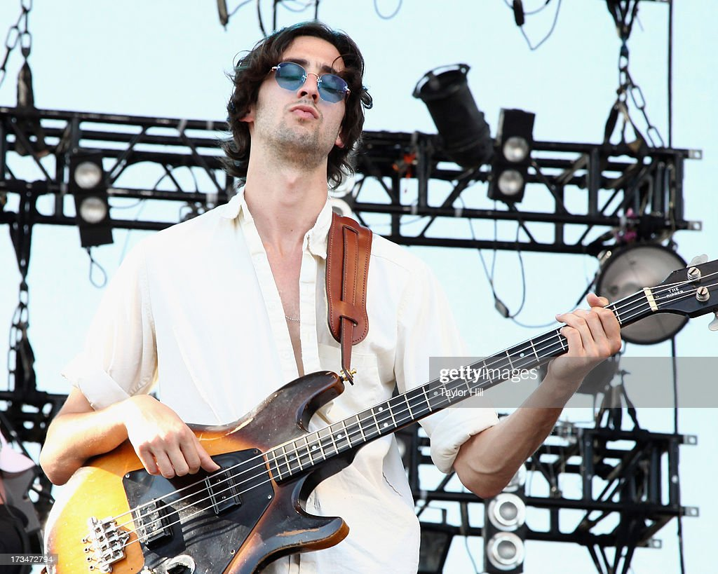 Wylie Gelber of Dawes performs during the 2013 Forecastle Festival at Waterfront Park on July 13, 2013 in Louisville, Kentucky.