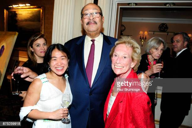 Wyna Liu Dick Parsons and Iris Love attend the American Folk Art Museum Annual Gala at JW Marriott Essex House on November 16 2017 in New York City