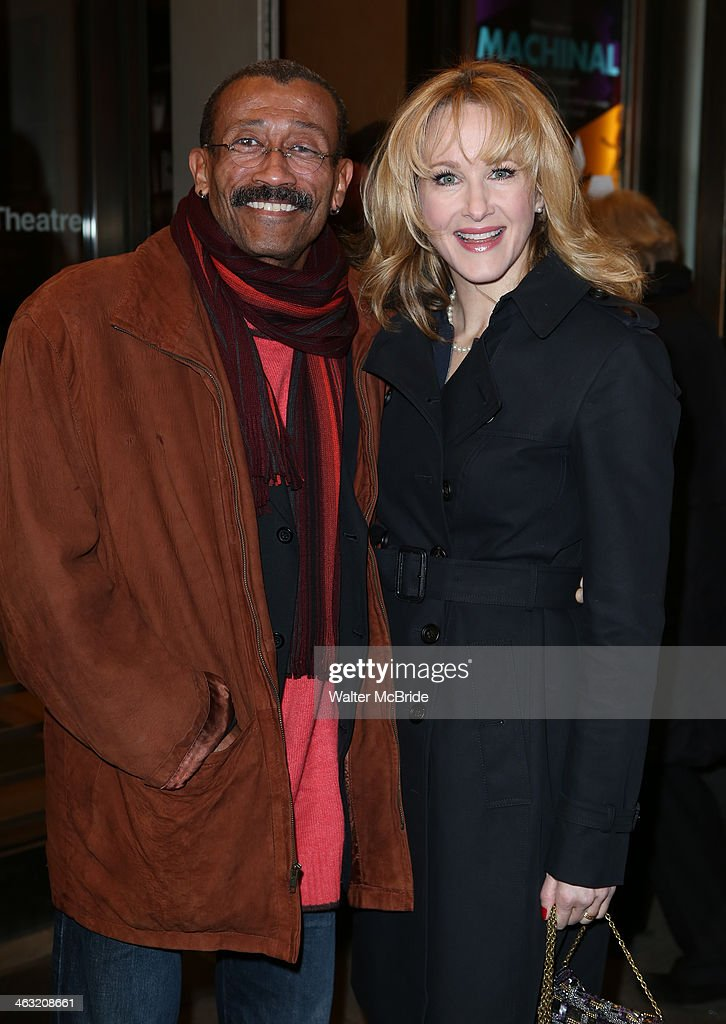Wynn Thomas and <a gi-track='captionPersonalityLinkClicked' href=/galleries/search?phrase=Katie+Finneran&family=editorial&specificpeople=778124 ng-click='$event.stopPropagation()'>Katie Finneran</a> attend the Broadway opening night of 'Machinal' at American Airlines Theatre on January 16, 2014 in New York, New York.