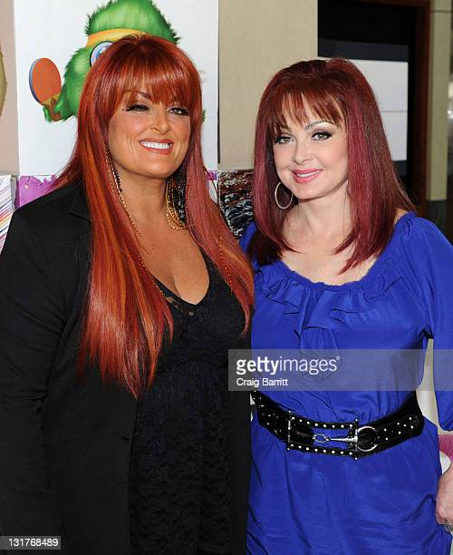 Wynnona Judd and Naomi Judd stop by the AOL Studios at AOL Studios on April 12 2011 in Beverly Hills California