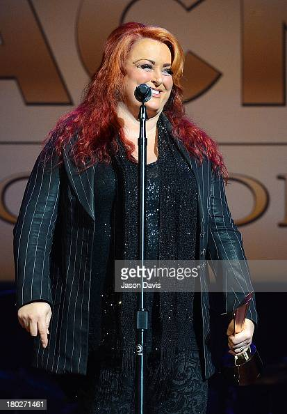 Wynonna accepts the Cliffie Stone Pioneer Award on behalf of The Judds at the 7th Annual ACM Honors at the Ryman Auditorium on September 10 2013 in...