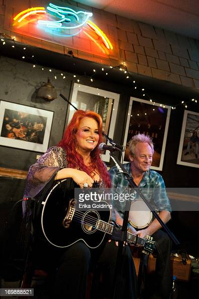 Wynonna Judd and Cactus Moser perform a special acoustic show at Bluebird Cafe on June 3 2013 in Nashville Tennessee