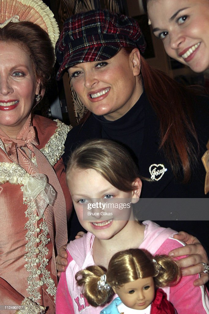 Wynonna Judd and daughter Grace during Wynonna Judd Backstage at 'Little Women' on Broadway March 23 2005 at The Virginia Theater in New York City...