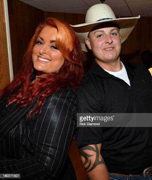 Wynonna Judd and Elijah Judd backstage at the 7th Annual ACM Honors at the Ryman Auditorium on September 10 2013 in Nashville Tennessee