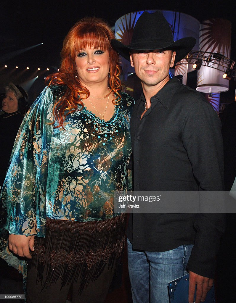 Wynonna Judd and Kenny Chesney during 2006 CMT Music Awards Backstage and Audience at Curb Events Center at Belmont University in Nashville Tennessee...