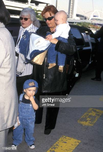 Wynonna Judd and kids during Wynonna Judd Sighting at Los Angeles International Airport January 9 1997 at Los Angeles International Airport in Los...