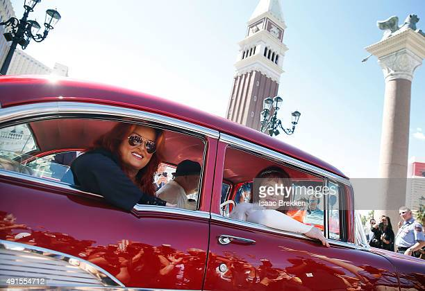 Wynonna Judd and Naomi Judd arrive at The Venetian Las Vegas to launch their nineshow residency 'Girls Night Out' on October 6 2015 in Las Vegas...