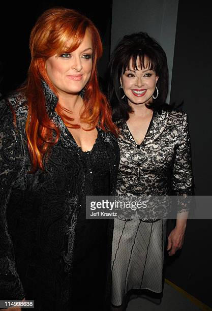 Wynonna Judd and Naomi Judd during 5th Annual TV Land Awards Backstage at Barker Hangar in Santa Monica California United States
