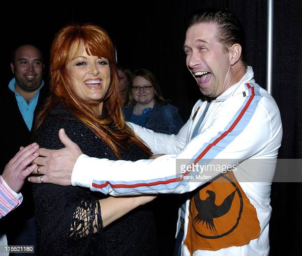 Wynonna Judd and Stephen Baldwin during 36th Annual GMA Music Awards Backstage at Grand Ole Opry in Nashville Tennessee United States