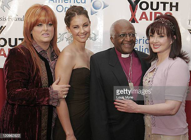 Wynonna Judd Ashley Judd Archbishop Desmond Tutu and Naomi Judd