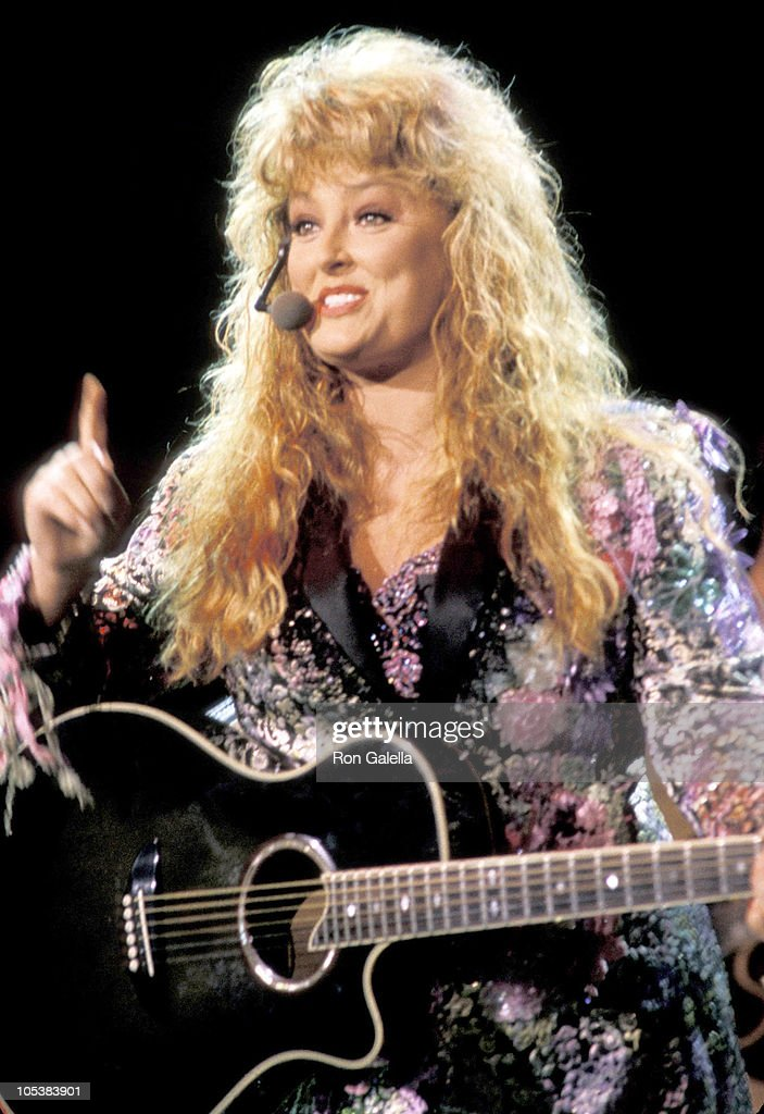 Wynonna Judd during The Judds Farewell Tour June 23 1991 at Pacific Ampitheatre in Orange County California United States