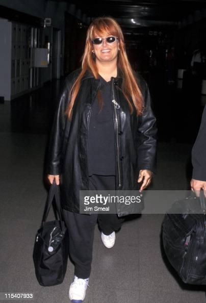 Wynonna Judd during Wynonna Judd Departs from LAX for Nashville June 11 1997 at Los Angeles International Airport in Los Angeles California United...