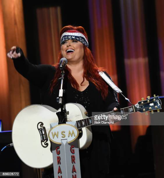 Wynonna Judd performs during Grand Ole Opry Total Eclipse 2017 Special Sunday Night Show at Grand Ole Opry House on August 20 2017 in Nashville...