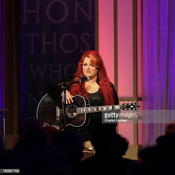 Wynonna Judd performs on stage at the 2013 USO Gala at Washington Hilton on October 25 2013 in Washington DC