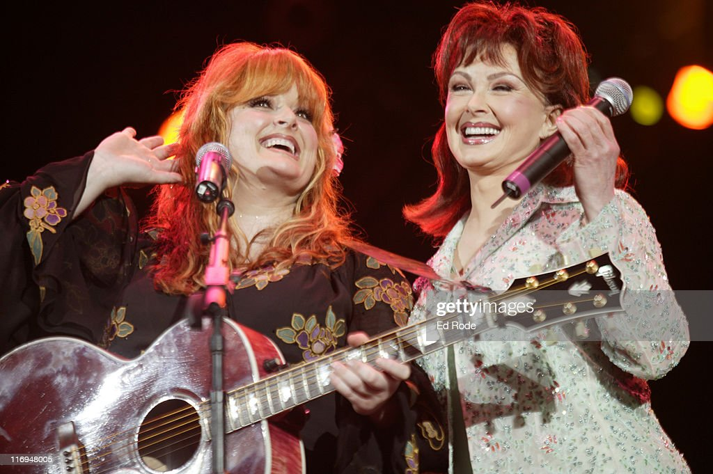 Wynonna Judd reunites with her mom Naomi Judd during Wynonna Judd and Naomi Judd Perform Together During Fan Fair Week at Adelphia Coliseum in...