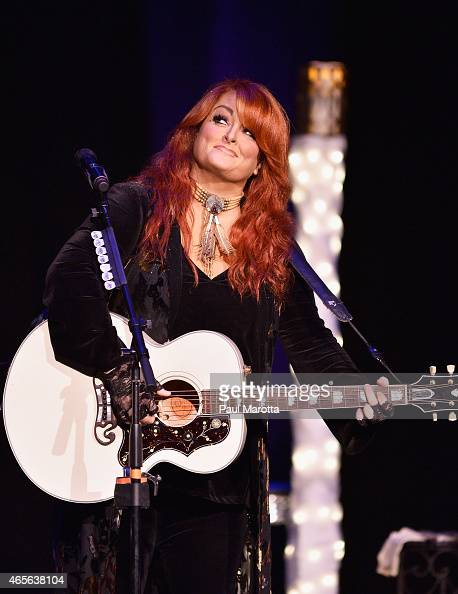 Wynonna performs on the final stop of her 'Wynonna and Friends Stories Song Tour' at the Wilbur Theater on March 8 2015 in Boston Massachusetts