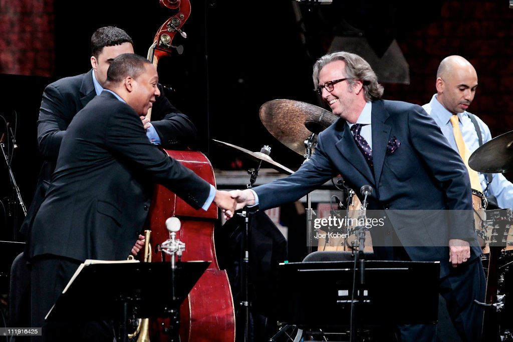 Wynton Marsalis and Eric Clapton perform at Jazz at Lincoln Center on April 8 2011 in New York City