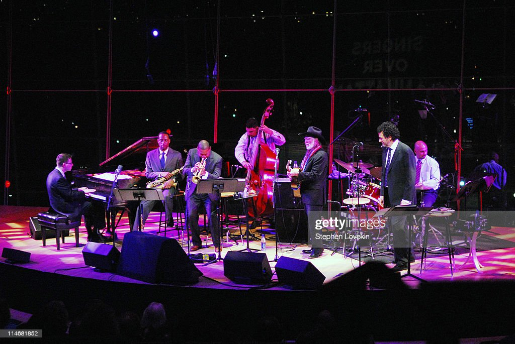 Wynton Marsalis and Willie Nelson and band during Willie Nelson and Wynton Marsalis in Concert Jazz At Lincoln Center in New York City at Jazz At...