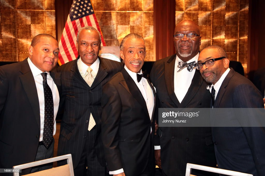 Wynton Marsalis, Dr. Floyd H. Flake, Al Sharpton, Bishop T.D. Jakes, and Spike Lee attend the 2013 Keepers Of The Dream Awards at the Sheraton New York Hotel & Towers on April 4, 2013, in New York City.