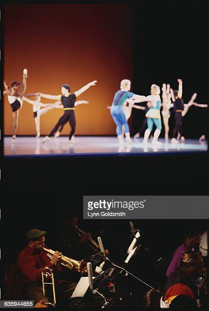 Wynton Marsalis Plays Trumpet in Orchestra Pit as Ballet Dancers Practice