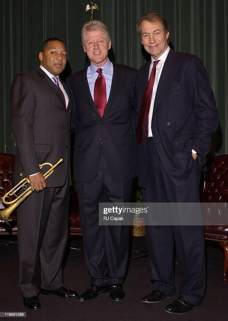 Wynton Marsalis The Honorable William Jefferson Clinton and Charlie Rose