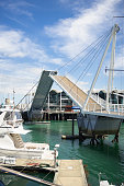 Wynyard Crossing bascule bridge in Auckland