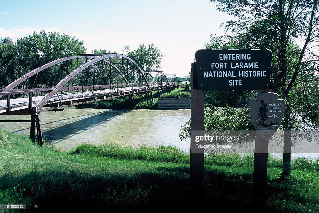 Wyoming Fort Laramie Old Army Bridge Over the Platte River Circa 1875