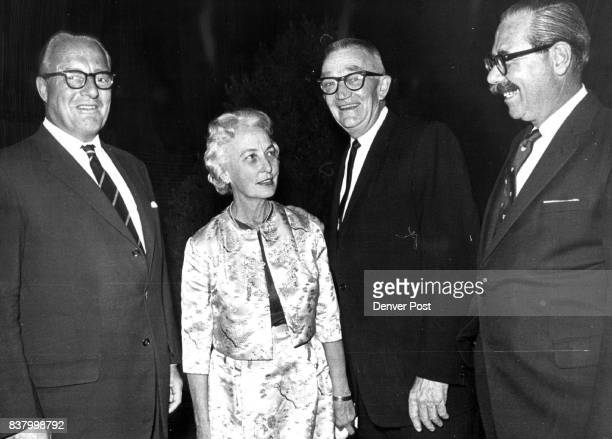Wyoming Gages Meet Visiting English 'Cousin' At British Consul's Party Sir Berkeley Gage left is introduced to former Wyoming Governor and Mrs Jack...