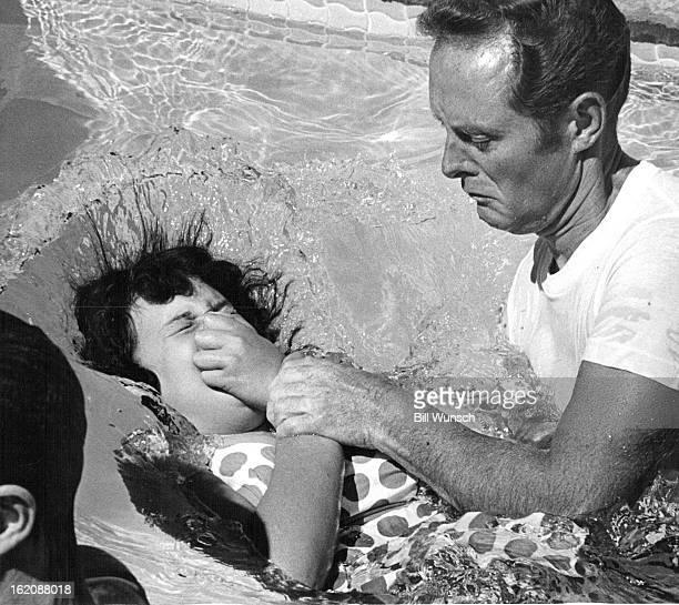 JUL 22 1972 JUL 23 1972 Wyoming Girl Baptized into Witnesses' Faith Brenda Barelle Casper Wyo is dunked Saturday morning in a baptismal ceremony...